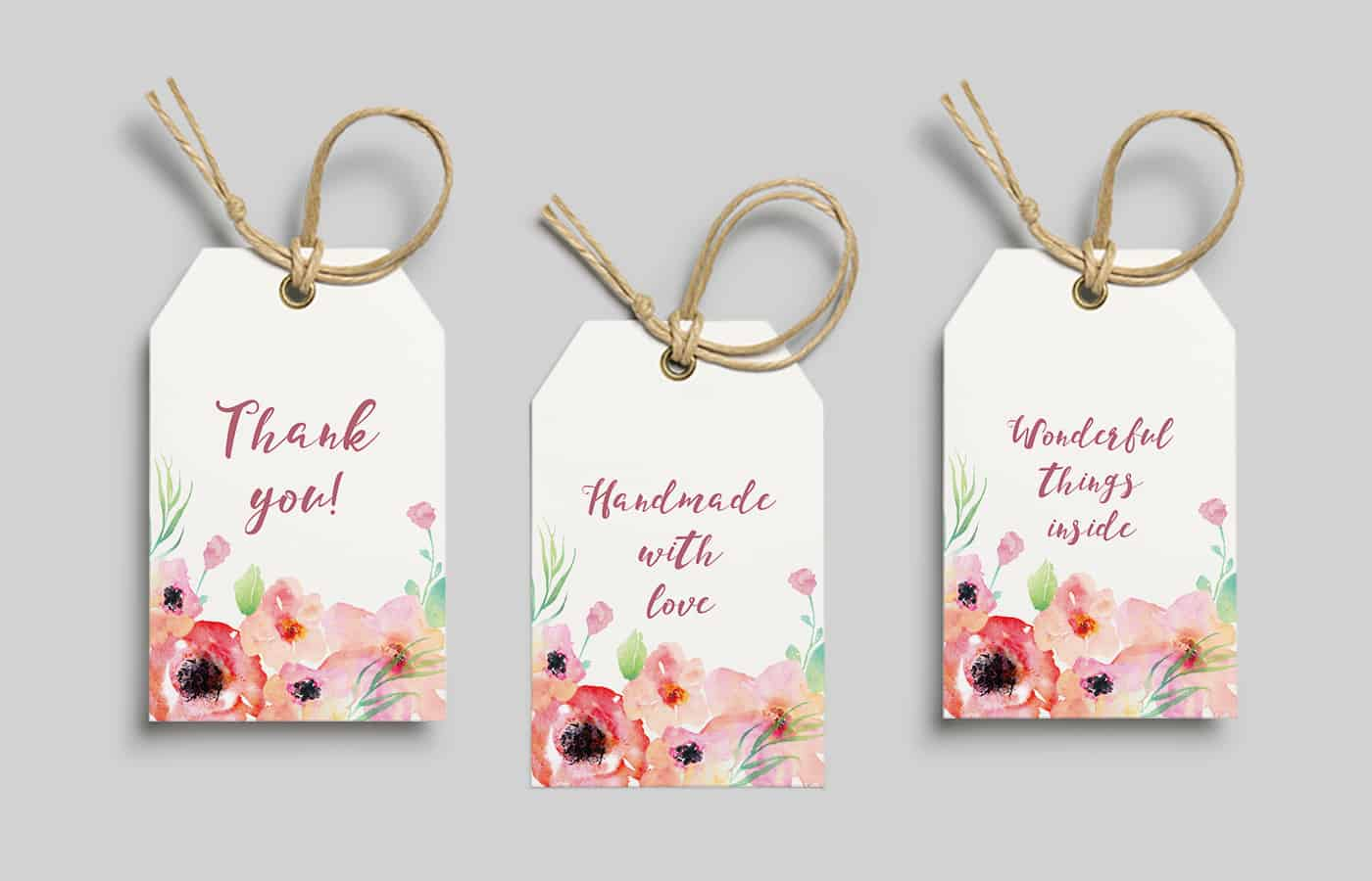 Free printable watercolor flower gift tags from eyestigmatic design negle Images