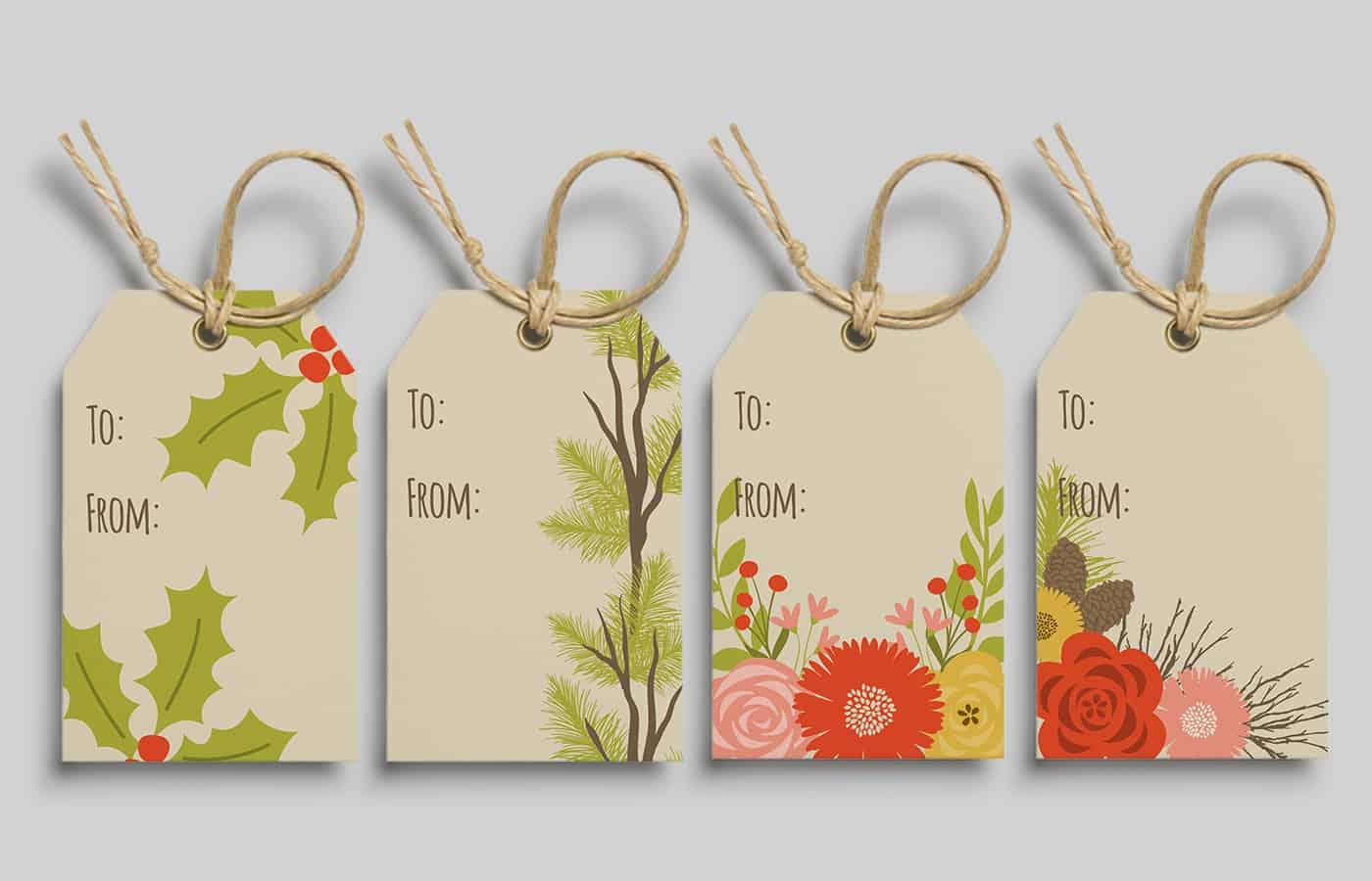 eyestigmatic design free printable Christmas gift tags
