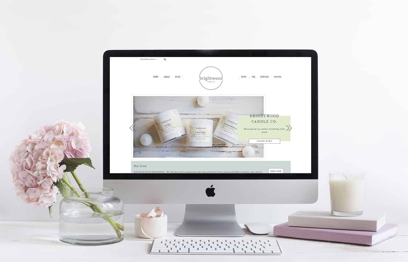 Brightwood Candle Co. - Wordpress Website Design