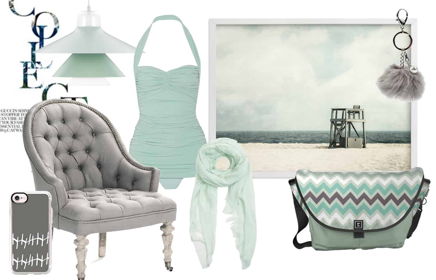 Polyvore Mint and Gray Collection